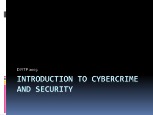 Introduction to Cybercrime and Security - IGRE