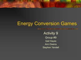 Energy Conversion Games