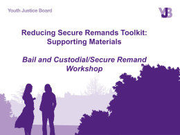 Bail and Custodial / Secure Remand Workshop