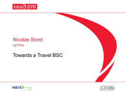 Towards a Travel BSC