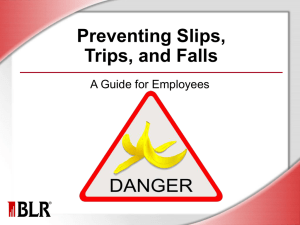 Preventing Slips, Trips, and Falls: A Guide for Employees