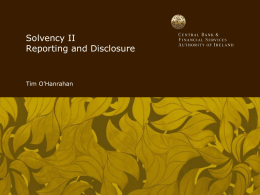 Reporting and Disclosure - Tim O`Hanrahan