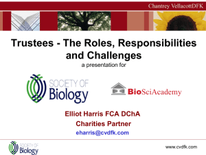 Trustees, the roles, responsibilities and challenges