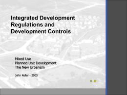 Law Lecture 18 - Planned Unit Developments