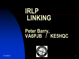 Internet Relay Linking Project (IRLP)