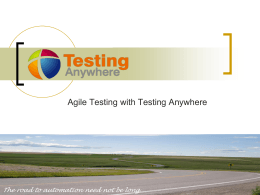 Agile testing - Automation Anywhere