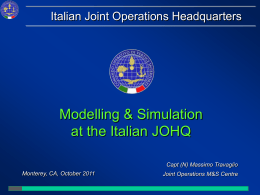 Joint Operations Modelling