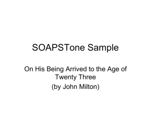 SOAPSTone Sample