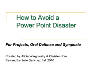 How to Avoid a PowerPoint Disaster