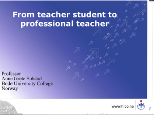 in professional teaching?