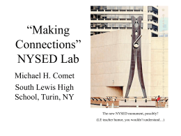 """Making Connections"" NYSED Lab"