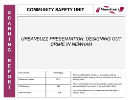 designing out crime in newham