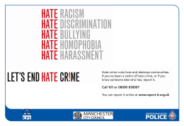 Greater Manchester Police Hate Crime