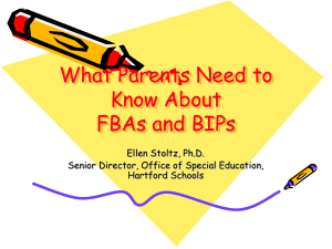 What Parents Need to Know About FBAs and BIPs