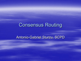 Consensus Routing