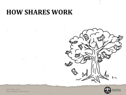 4. How shares work presentation - Money Works: It`s your business