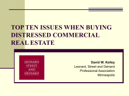 top ten issues when buying distressed commercial
