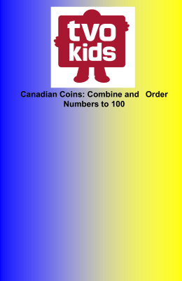 Canadian Coins: Combine and Order Numbers to 100