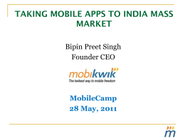 taking mobile apps to india mass market