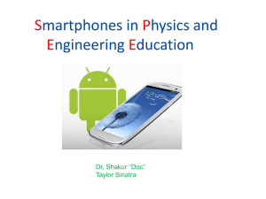 Smartphone Physics and Engineering