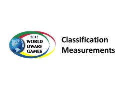 Video instructions for classification measurements