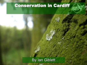 Cardiff Conservation Volunteers Presentation