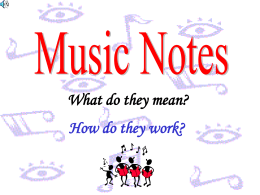Note Value Presentation.