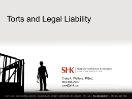 Torts and Legal Liability – PowerPoint