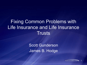 Fixing Common Problems with Life Insurance and Life Insurance