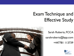 Exam technique and effective study methods 11