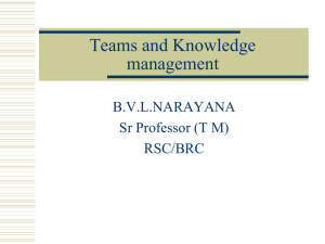 Teams and Knowledge management