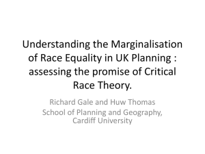 Understanding the Marginalisation of Race Equality in UK Planning