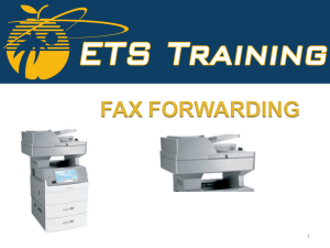 Fax Forwarding to CAB Conference