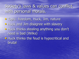 Society`s laws & values can conflict with personal morals.