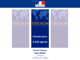 Presentation ICA G20 - France - The Infrastructure Consortium for