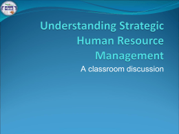 Strategic Human Resource Management- 2071 Mangsir