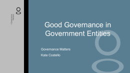 Good Governance in Government Entities Powerpoint pp1000027