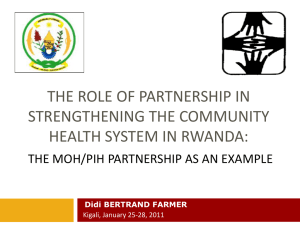 The MOH/PIH community health system