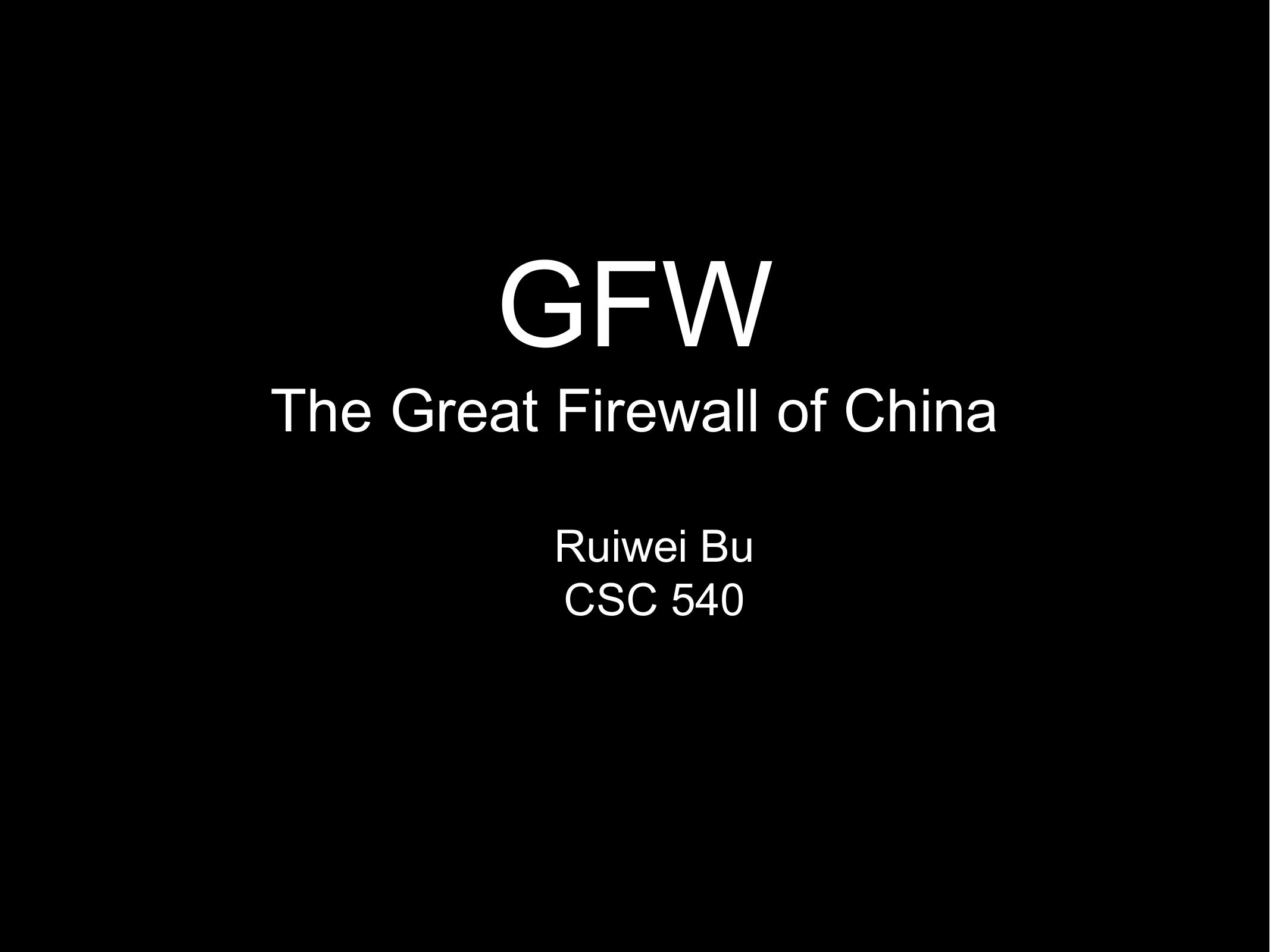 The Great Firewall of China - Murray State University`s RacerNet