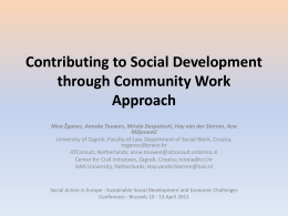 Contributing to Social Development through Community Work