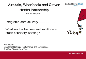 What are the barriers and solutions to cross boundary working?