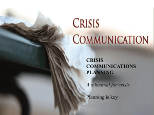 Crisis Communication[1] - NorthSky Nonprofit Network