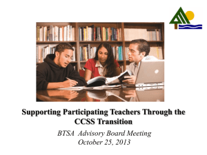 Transitioning ALL Teachers to the Common Core