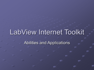 LabView Internet Toolkit
