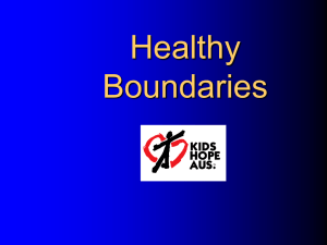 Healthy Boundaries - World Vision Australia