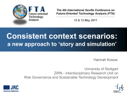 Consistent context scenarios: a new approach to `story and simulation`