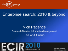 Enterprise Search market 2010 & beyond