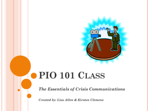 PIO Training