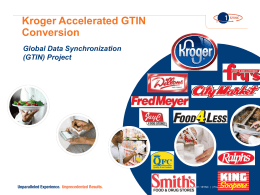 (GTIN) Project - Kroger EDI Web