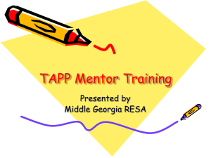 TAPP Mentor PowerPoint